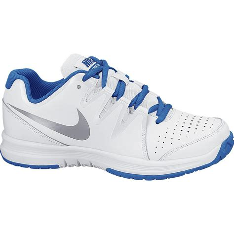 nike boys vapor court gs tennis shoes white blue