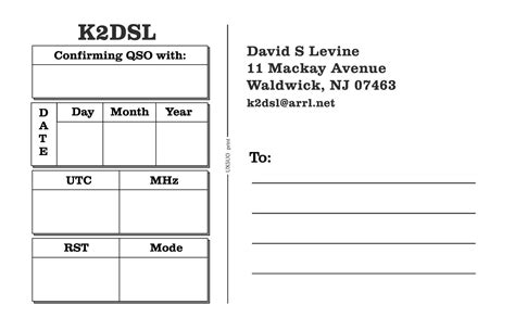 qsl cards template new qsl card design k2dsl