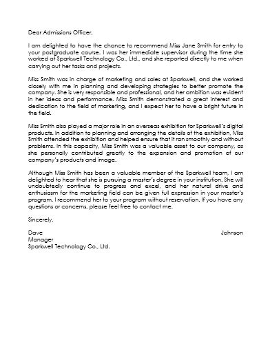 employee reference letter examples templates
