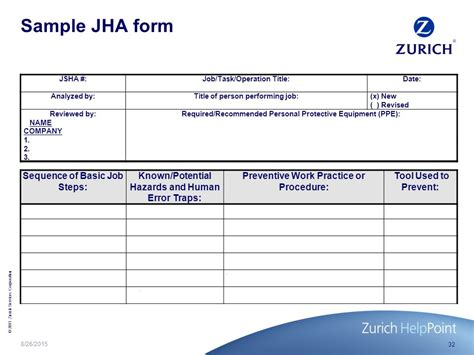 jha form template jha form hazard analysis form yun56 co pin form hazard