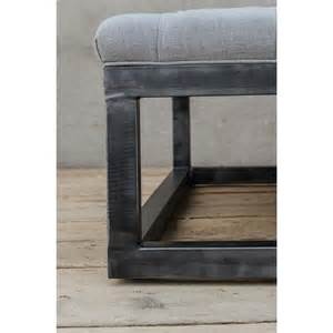 square tufted ottoman coffee table frederick industrial square tufted coffee table