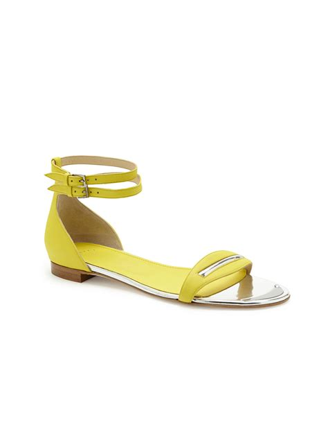 flat yellow sandals maiyet two tone ankle flat sandal in yellow