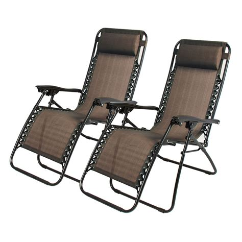 2pcs Folding Zero Gravity Reclining Lounge Chairs Outdoor Reclining Patio Chairs