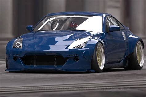 nissan 350z widebody greddy rocket bunny v2 full wide body aero kit w wing