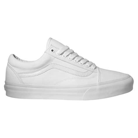 White School Vans Vans Skool Trainers True White School Shoes Ebay