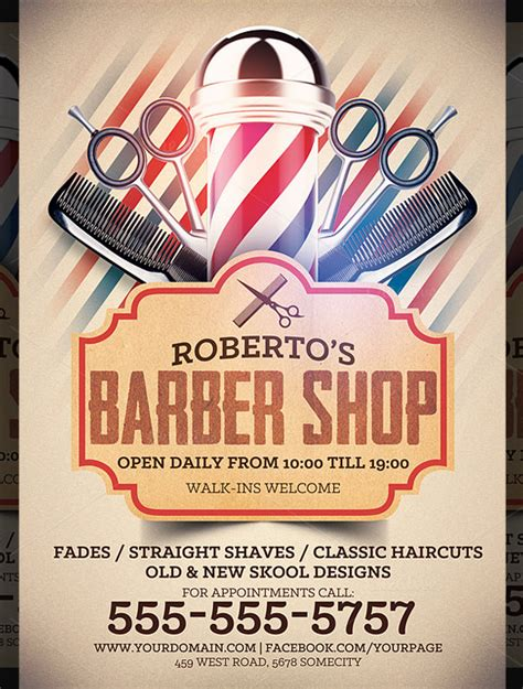 19 best barbershop flyer template design free
