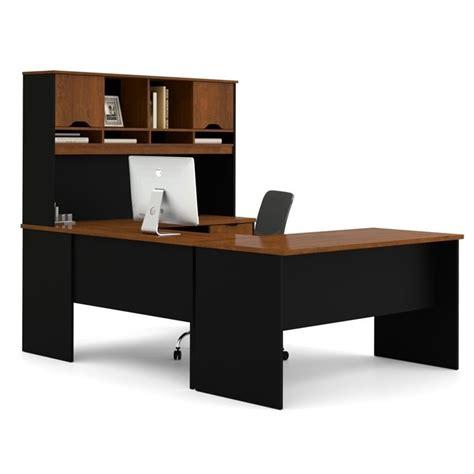 Innova Desk by Bestar Innova U Shape Desk In Tuscany Brown And Black