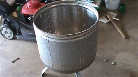 pit made from washing machine drum washer drum pit