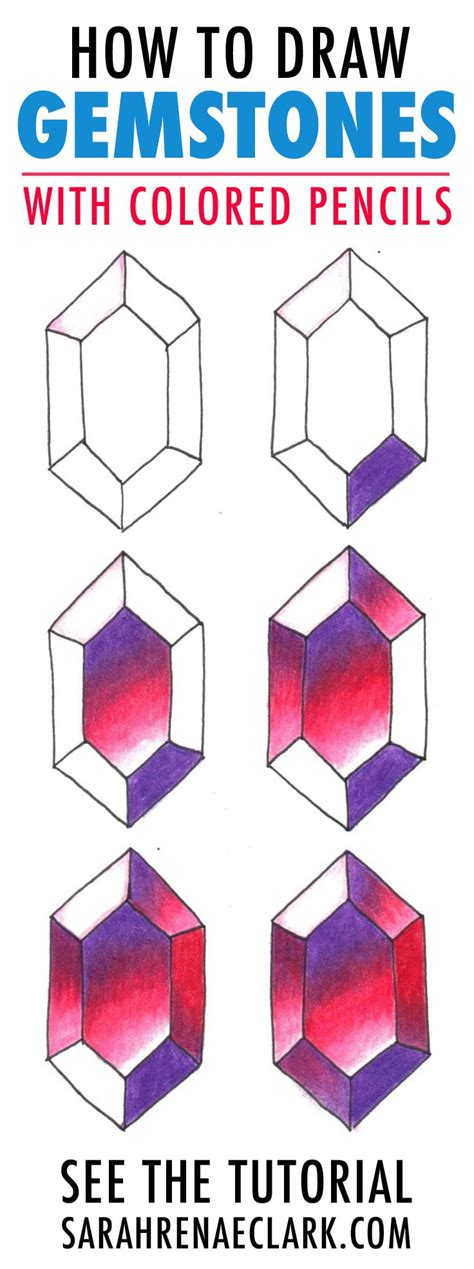 how to draw with colored pencils how to draw gemstones with colored pencils