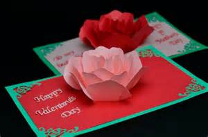 Creative Pop Up Cards Free Templates Rose Flower Pop Up Card Template