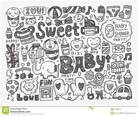 doodle doodle baby doodle baby background stock vector illustration of black