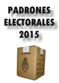 elecciones 2015 donde voto padrones electorales 2015 en capital federal donde voto