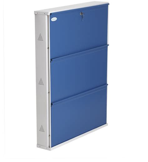 Jumbo Rack Umico Um10mp Blue space saving folding three shelf jumbo shoe rack in blue colour by prab by prab metal