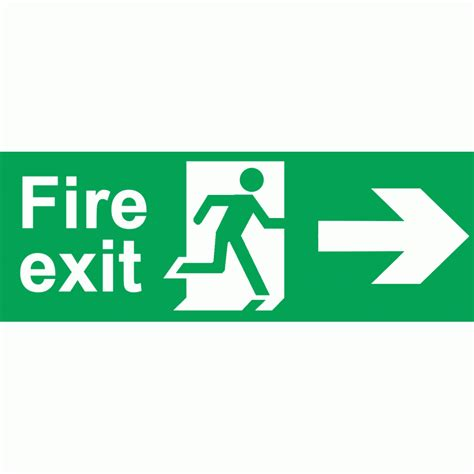 Bookcase Strip Fire Exit Sign Right Signs Door Hardware