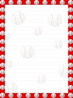 printable baseball stationery paper printable baseball stationery from printabletreats com
