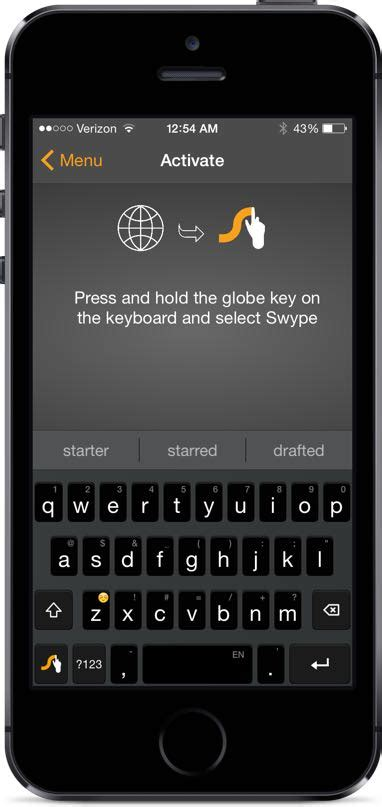 apps swype themes a few of the first apps to take advantage of ios 8