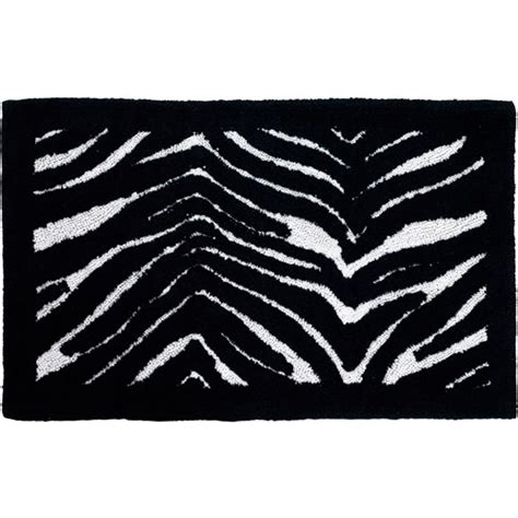 zebra bath rugs creative bath zebra cotton bath rug striped 21 quot x 34 quot walmart