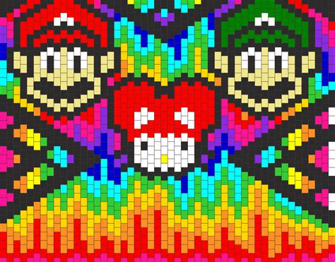 epic kandi bag back bead pattern peyote bead patterns