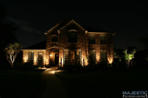homes with lights keller and dallas tx home exterior lighting gallery