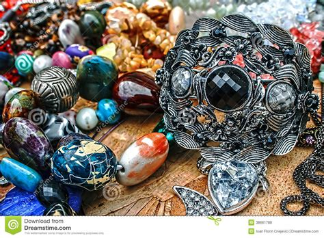 trinkets and trinkets and jewelry 2 royalty free stock photos image