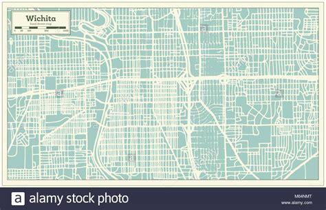 wichita usa map wichita kansas downtown stock photos wichita kansas
