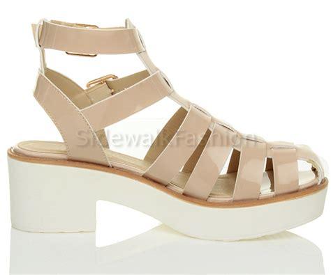 chunky gladiator sandals womens platform strappy chunky gladiator