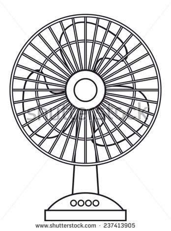 Fan Outline by Stock Images Similar To Id 133646537 Vintage Electric Fan With