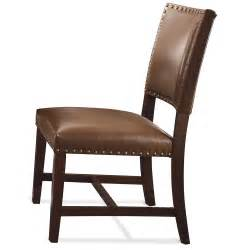 Parson Dining Chair Bedford Bonded Leather Parson Dining Chair Each In Warm Tobacco Humble Abode