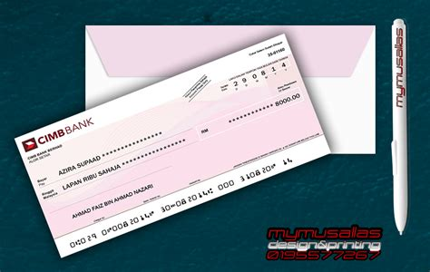 Mymusallas Design Printing Cek Palsu Mock Up Cheque Mock Cheque Template