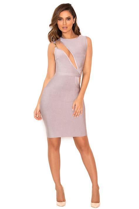 Inka Top 1 clothing bandage dresses inka grey slash front bandage dress