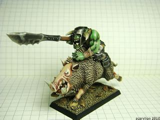 Scarylion Sucks At 40k Ork Orc On A Pig
