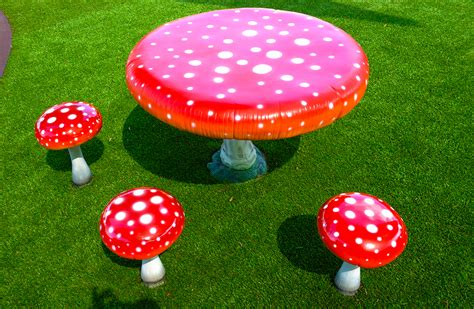 toadstool table and chairs toadstool table and chairs art dinouveau nature play