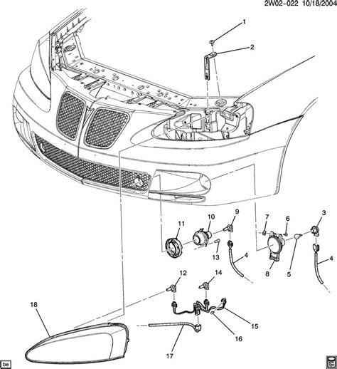 2004 pontiac grand prix parts diagram ls front