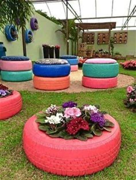 jardines de llantas decoraciones de jardines con llantas