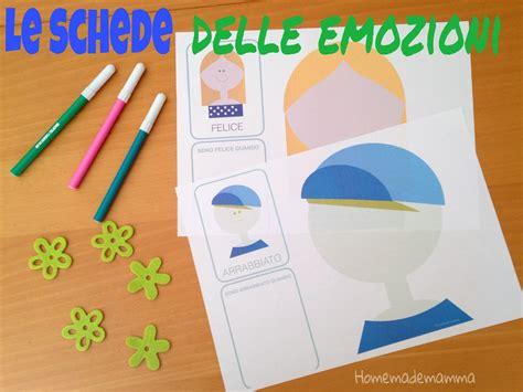 delle emozioni schede didattiche le schede delle emozioni