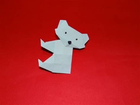 How To Make A Origami Koala - how to make an origami koala