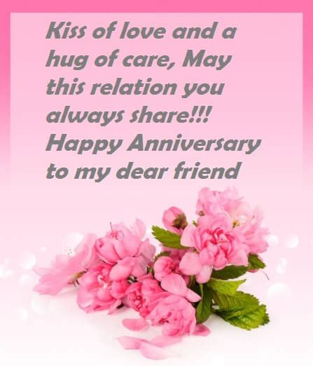 Wedding Anniversary Wishes Words by Wedding Anniversary Wishes Quotes To Friend Best Wishes