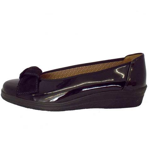 comfort wedge pumps gabor lesley black patent leather wedge pump ladies