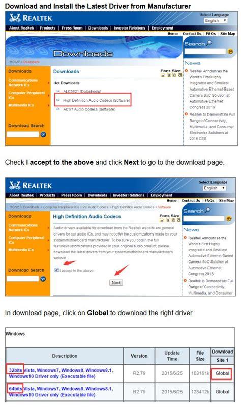 install windows 10 audio driver how to install realtek hd audio drivers windows 10 autos