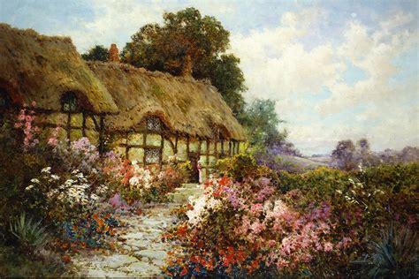 Cottage Paintings by Alfred De Breanski Jr 1877 1957