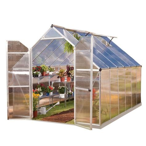 palram essence 8 ft x 12 ft silver polycarbonate