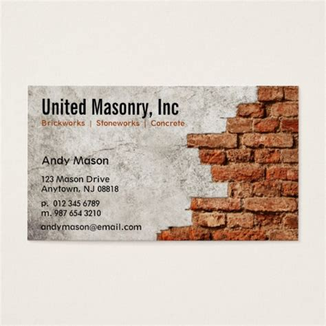 Masonry Business Cards masonry business cards zazzle