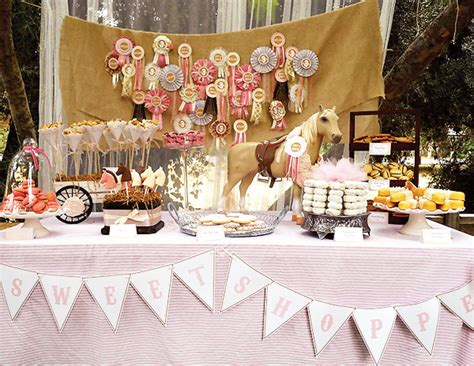 horse themed events shabby chic vintage pony birthday party hostess with