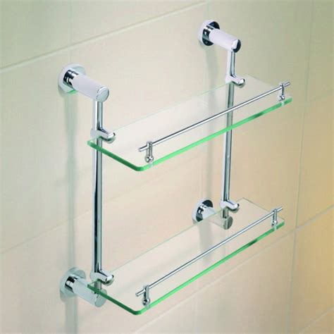caroma cosmo metal shower shelf double