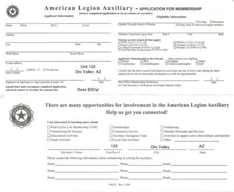 american legion auxiliary membership card template 2017 ala application american legion auxiliary oro valley