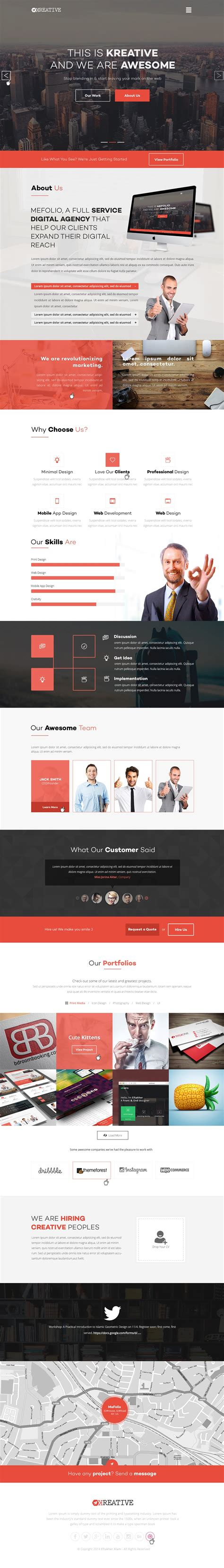 Free Agency Website Templates Psd 187 Css Author Startup Website Template