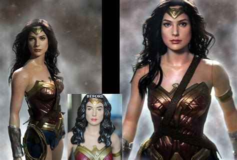 Bathtub Repainting Wonder Woman Gal Gadot Custom Doll Repaint By Noeling On