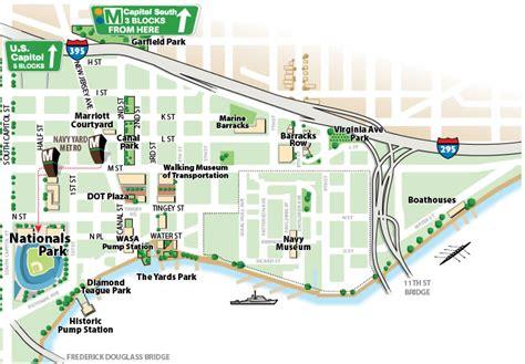 washington dc map navy yard washington dc navy yard map washington dc map