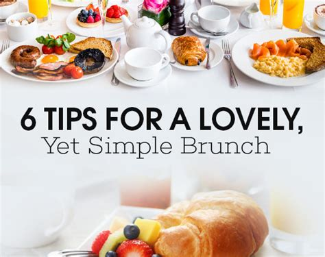 6 tips for a lovely yet simple brunch think tasty