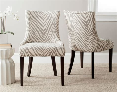 zebra print dining room chairs mcr4709q set2 dining chairs furniture by safavieh
